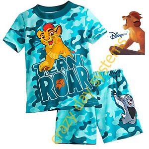Clothing, Shoes, Accessories New Toddler Disney Lion Guard King Pajamas Size 2 Short Sleeve Pants Kion