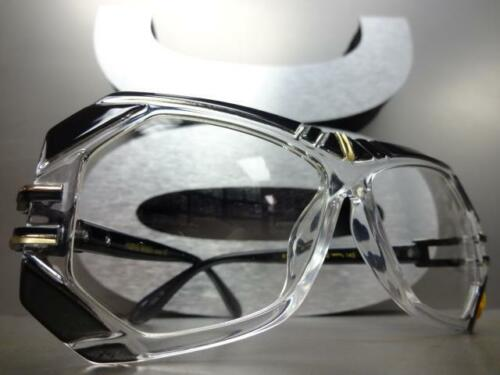 Mens or Women VINTAGE RETRO Style Clear Lens EYE GLASSES Black Transparent Frame