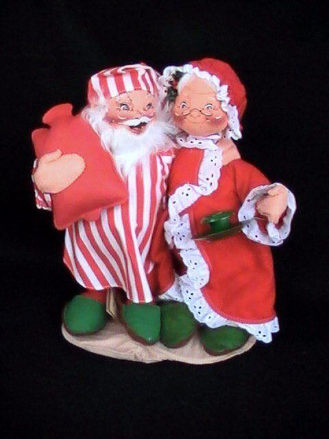 Annalee Puppen Santa / Mrs. 1992 Klaus Im Schlafanzug Schlafenszeit 1992 Mrs. 55c729