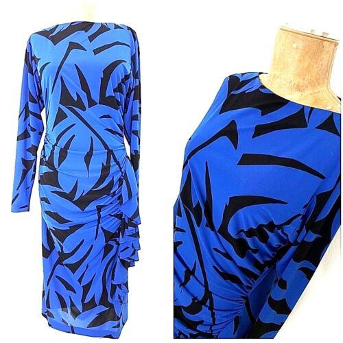 Vintage 80s Rimini Side Ruffle Dress Size Medium B