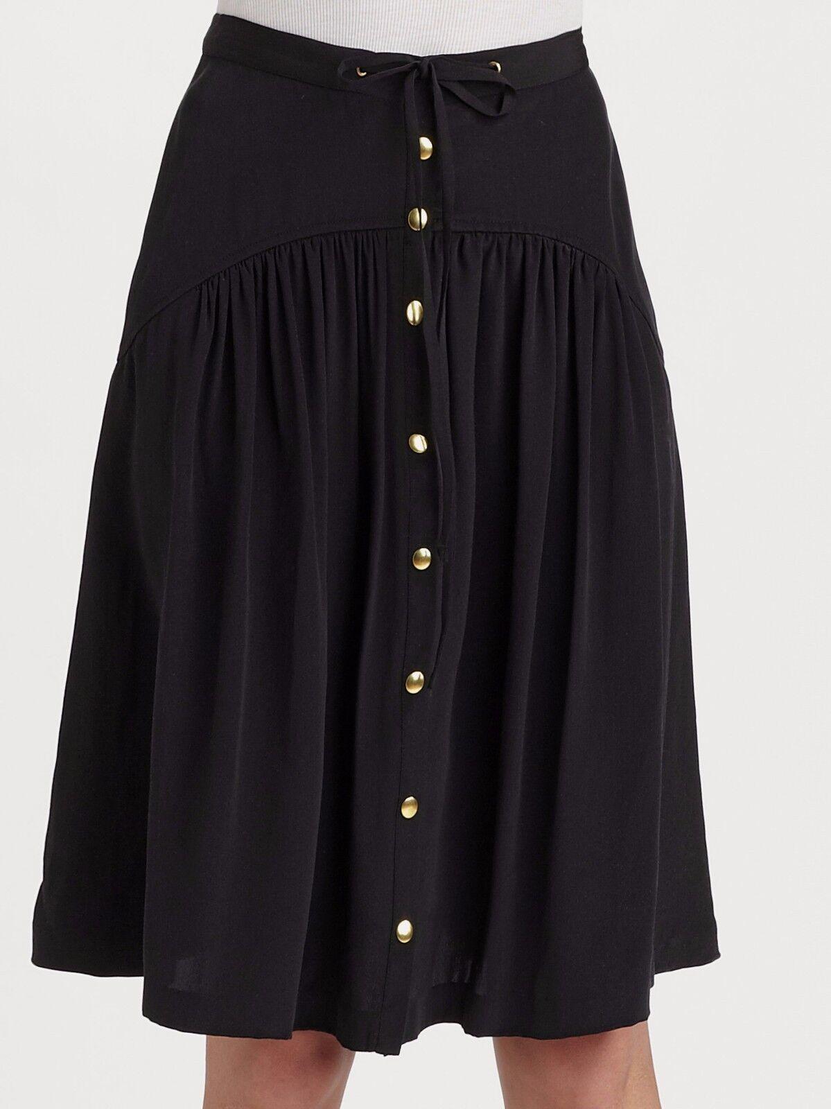 New Leifsdottir A-Line Silk Crepe Skirt Sz 02