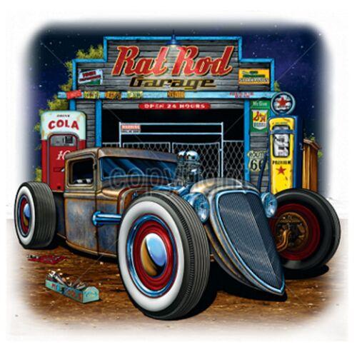 Chemise G Rat V8 Modell Stylemotiv Hot Us `50 Oldschool travailleur Car Rod de Grau rqZOrS