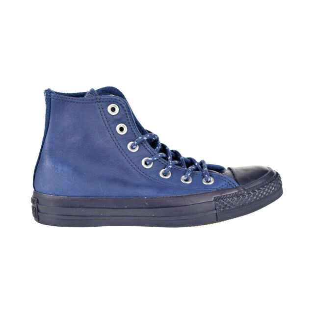 Converse Chuck Taylor All Star Hi Leather Men's Shoes Midnight Navy Blue 157515C