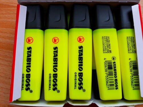 5x Stabilo Boss Textmarker gelb 2-5 mm 5er Sparpack