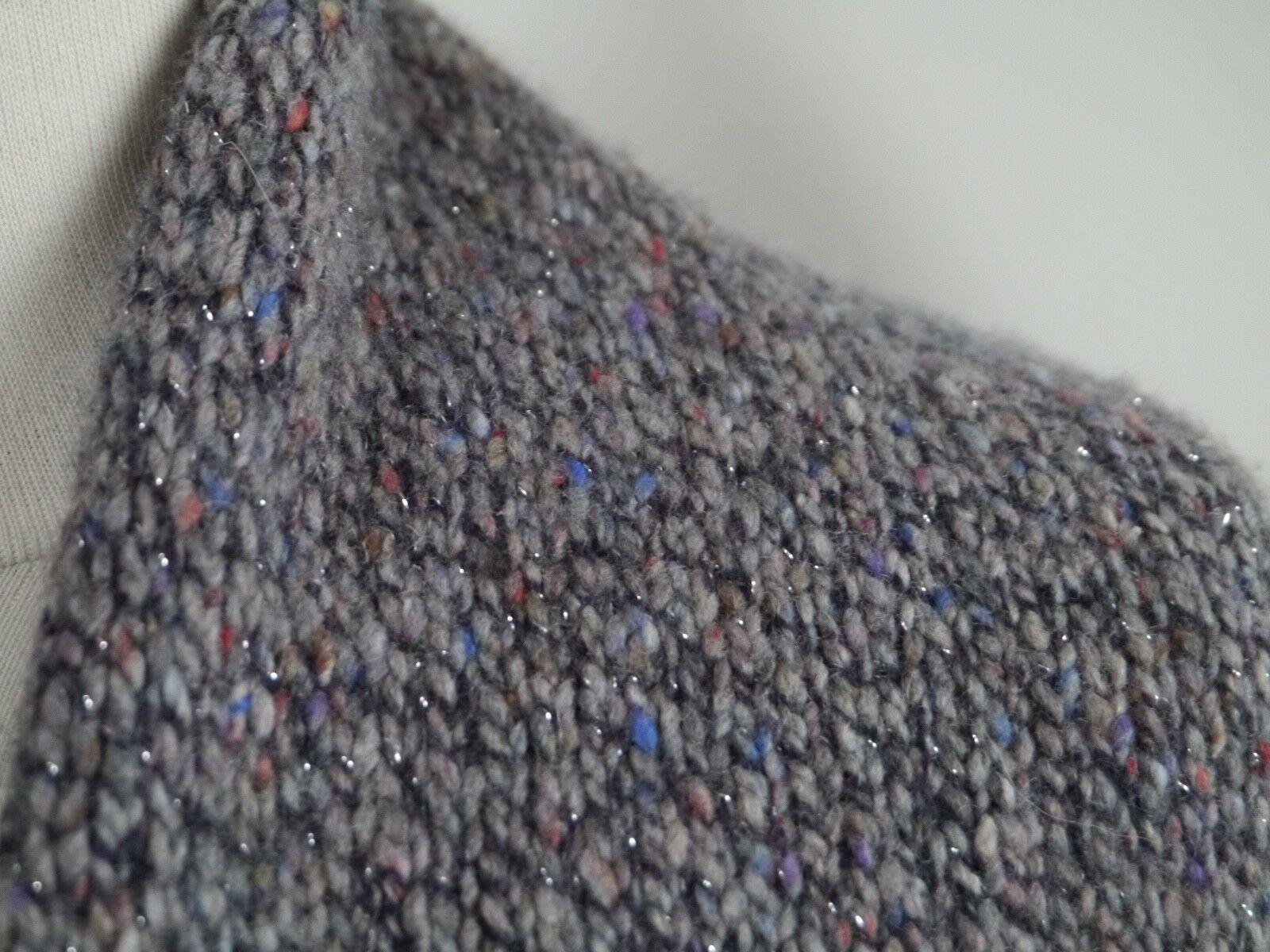 BRUNELLO BRUNELLO BRUNELLO CUCINELLI marled cashmere blend cardigan shrug sweater size L WORN ONCE 31314e