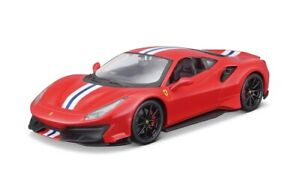 Bburago-1-24-Ferrari-488-Pista-Diecast-Model-Sports-Racing-Car-NEW-IN-BOX-RED