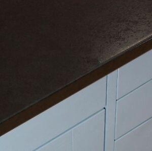 Black Lunar Night Laminate Kitchen Worktops 38mm Gloss
