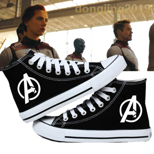 Marvel Avengers Logo canvas shoes Endgame High top Flat Sneakers Shoes Casual