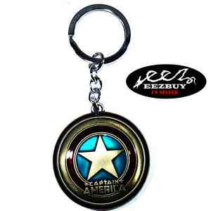 Marvel-Comics-Captain-America-Shield-The-Avengers-Movie-Pewter-Key-Chain-Bronze