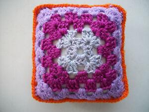 """Franc Mini Crochet Carré Coussin/oreiller, Maison De Poupées, En Croissant, Décoratif, Violet, 5""""-,dolls House,pincushion,decorative,purple,5"""" Fr-fr Afficher Le Titre D'origine"""