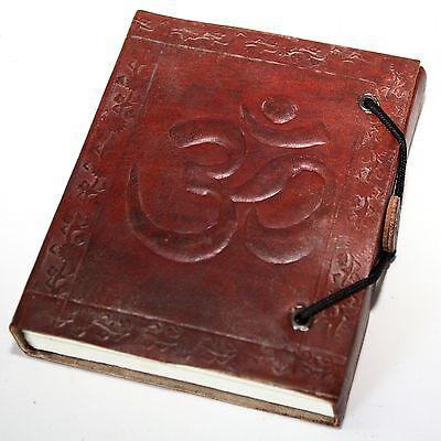 LEDERBUCH,Kladde-Notizbuch,Tagebuch Buch Leder Braun OM /1