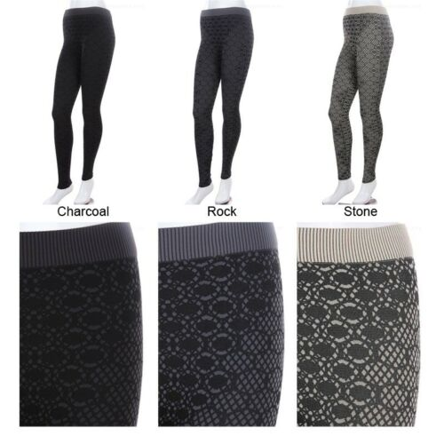 Women/'s Thick Leggings High Quality Seamless Spandex Beehive ONE SIZE