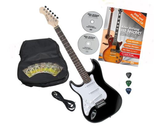 Top Linkshänder E-Gitarre mit großem Zubehörset ideal für Anfänger in die Musik