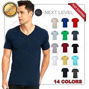 6bc885043 NEW MAN'S V BLANK T-SHIRT Premium Fitted V Neck Cotton Shirt Next ...