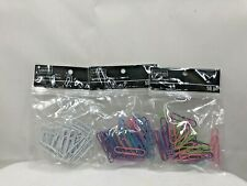 Artminds Jumbo Paper Clips Multi Color Metal Vinyl Coated 2 50 Pc Lot Of 3