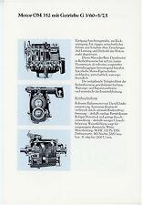 Prospekt 1978 Datenblatt Lkw Motor Mercedes OM 352 Getriebe G 3/60-5/7,5 Europa