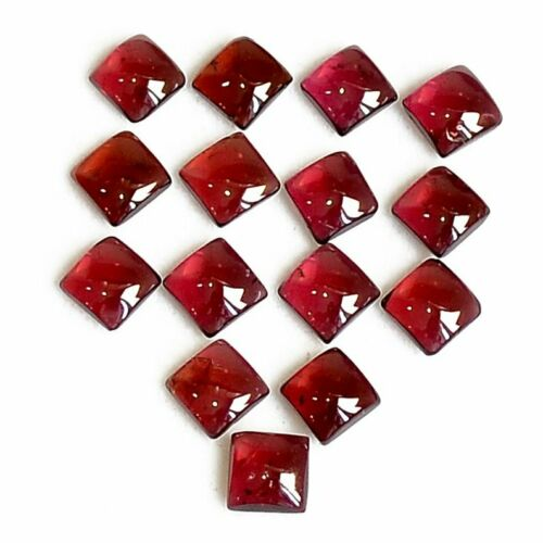 Natural Red Garnet Loose Gemstone Garnet Lot 3x3mm To 10x10mm Square Cabochon