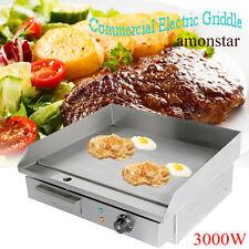 3000W Gastronomie Grillplatte Grill Bratplatte Bräter Griddleplatte Griddle 55cm