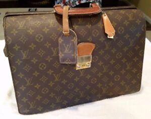 a8c6d7bb302f Image is loading Authentic-Louis-Vuitton-LV-Monogram-Canvas-Briefcase- Vintage-