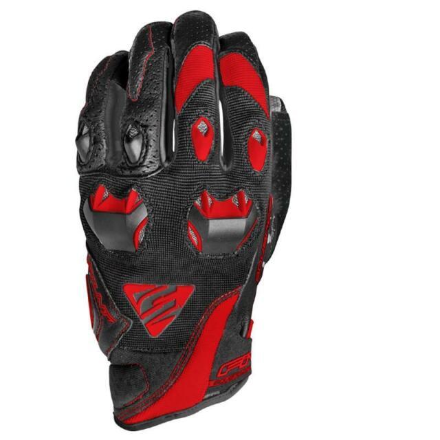 Par Guantes de Motociclista Five Stunt Evo Black Red L
