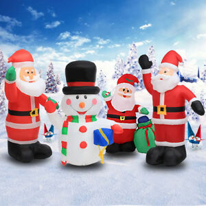 image is loading large inflatable santa snowman outdoor airblown xmas christmas