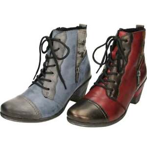 5edc36e4c Image is loading Remonte-Leather-Multi-Coloured-Metallic-Ankle-Boots-Heel-