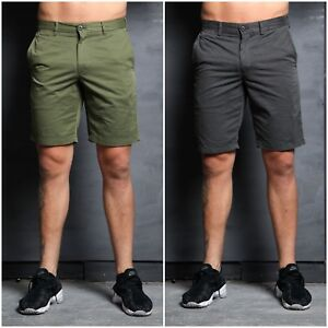 SIMPLY-JEANS-Mens-Summer-Chino-Shorts-Grey-Olive-Pink-Stylish-Comfortable