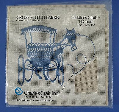 "Charles Craft Fiddlers Cloth 12/"" x 18/"" 14 count new in package"