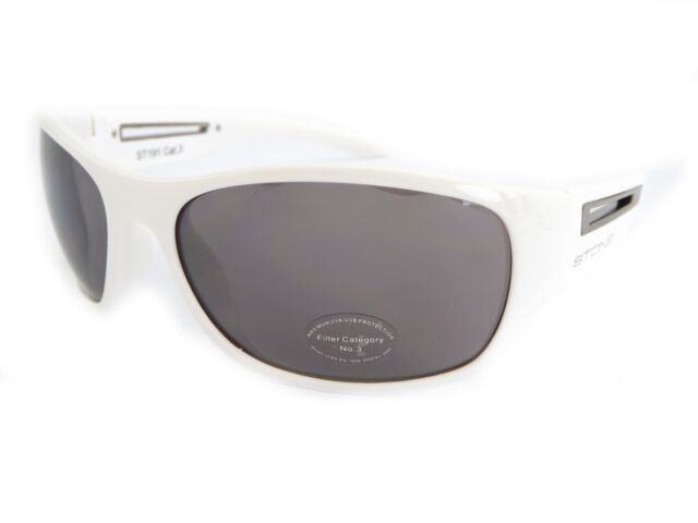 cfb281f11c STONE mens wraparound Sunglasses POLISHED White   Brown Lens (by bloc) ST191
