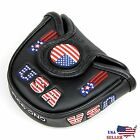 USA AMERICA MALLET BLACK Putter Cover Headcover For Scotty Cameron Odyssey 2ball