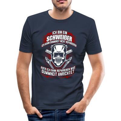 T-Shirt Schweißer BRENNER KÖNIG WILL SCHWEISSEN Metallbauer Mechaniker Beruf fun