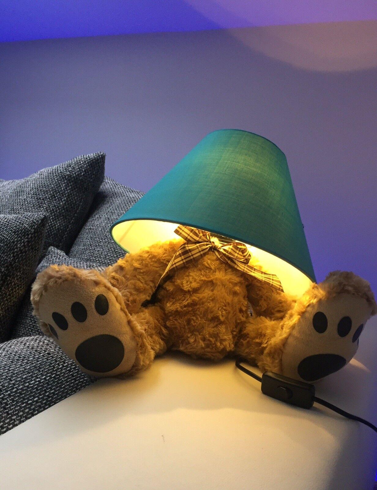Designer Teddybär-Lampe Weihnachten Weihnachten Weihnachten Kinderzimmer Tischlampe Accessoire Deko ac0a02