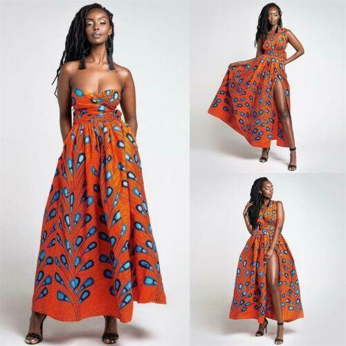 Womens African Dashiki Convertible Multi Way Long Dress Ball Gown Maxi Sun Dress