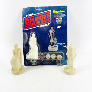 Lot of 3 Vintage Craft Master Vinyl Figurines Star Wars Empire Strikes Back Leia