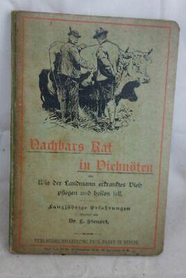 """Steuert Altes Tierheilbuch Tierarzt """"nachbars Rat In Viehnöten"""" Dr L"""