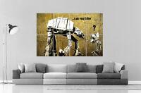 Banksy Robot Star Wars Street Art Graffiti Wall Art Poster Grand Format A0 Large