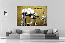 BANKSY ROBOT STAR WARS STREET ART GRAFFITI Wall Art Poster Grand format A0 Large