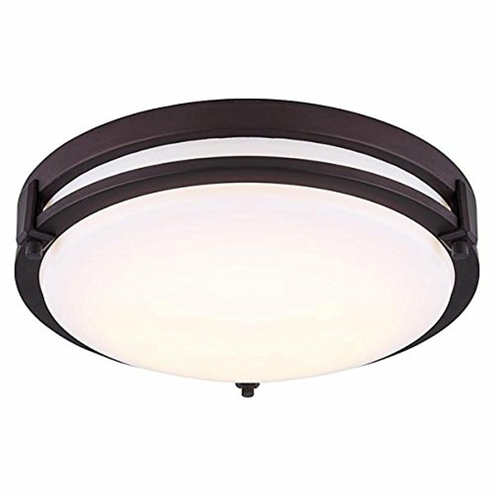 Canarm Gilda 19W LED Flush Mount in Oil Rubbed Bronze Bronze Bronze and Acrylic Lens -Dimmable c952fe