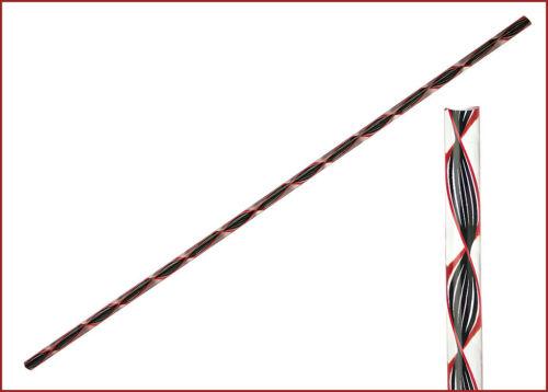 verdrehte Fäden Zanfirico Schwarz-Rot 6//6,5x320mm 12,47€//m