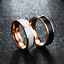 Anello-Uomo-Donna-Acciaio-Inox-Argento-Oro-Fedine-Fedina-Fidanzamento-Fascia miniatura 8
