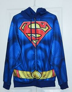 SUPERMAN Size Small Adult Hoodie Costume DC COMICS Worn ...