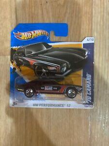 2012-Hot-Wheels-144-HW-Rare-Short-Card-70-CAMARO-ROAD-RACE-Black-Variant-New