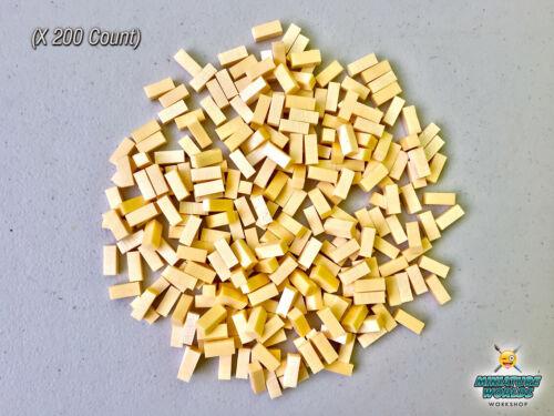 Wargaming High Density XPS Hobby Foam Bricks 200 Count SMALL 8mmX8mmX18mm