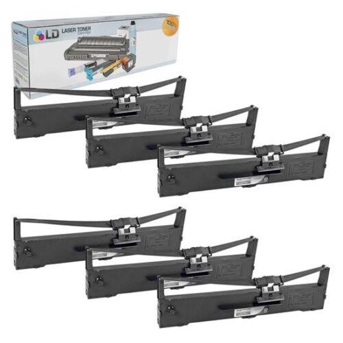 LD 6 Pack S015329 Comp Black Ribbon for Epson Printer