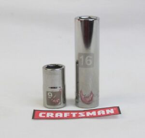 Craftsman-Easy-Read-Socket-6-or12pt-MM-or-SAE-3-8-or-1-2-Drive-Standard-or-Deep