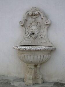 Offerta Fontana A Muro Lavandino Da Esterno Giardino In Cemento Marmo Pietra Ebay