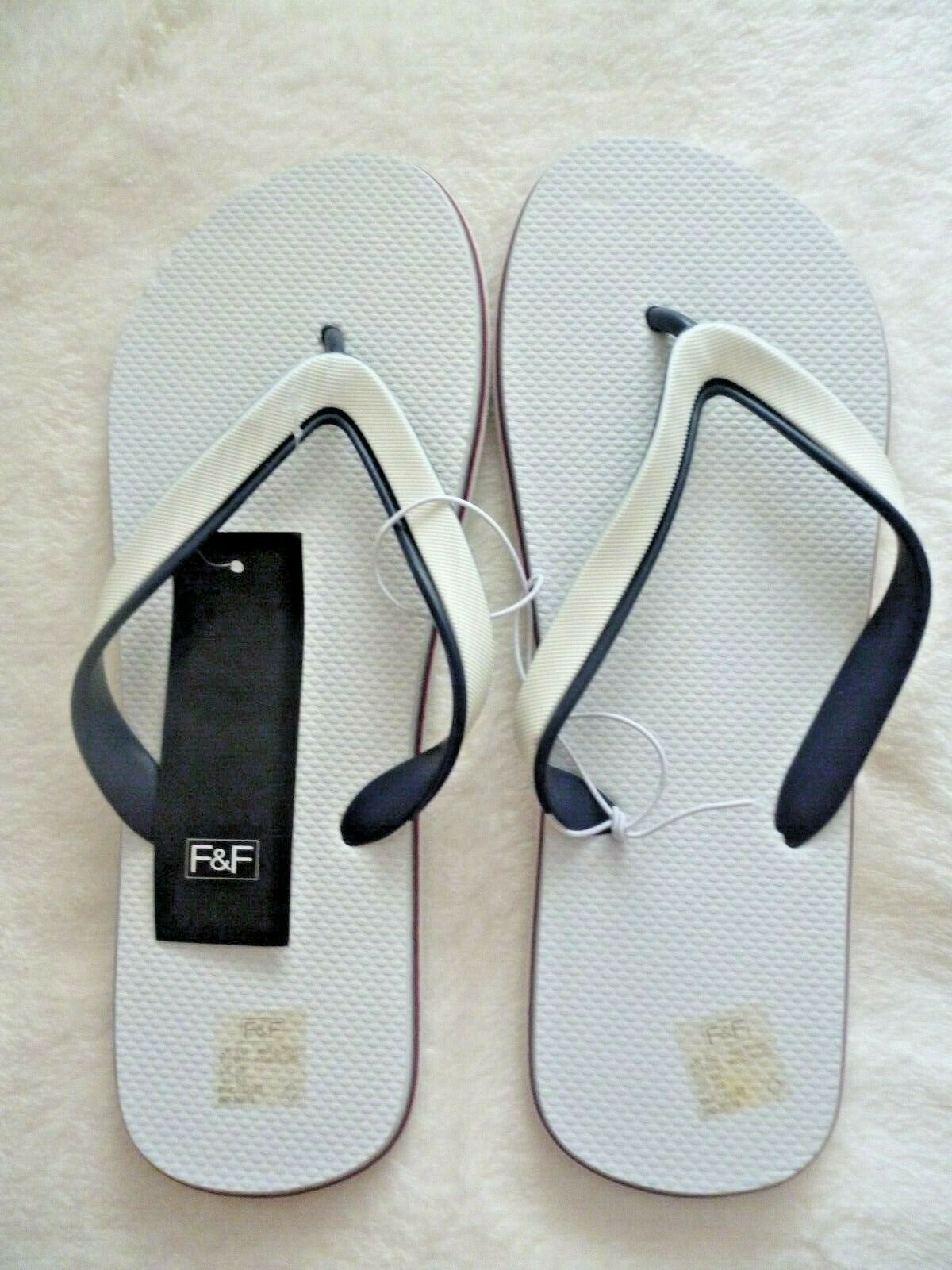 Red/White & Blue Flip Flops/Toe Post Holiday SHoe Size 9-10 EUR 43-44 BNWT