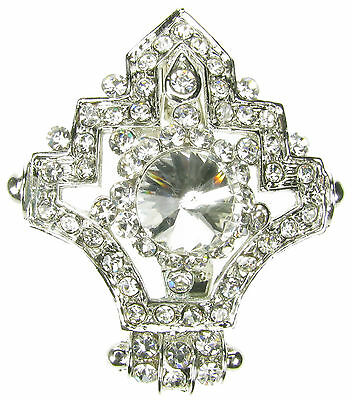 Plata Diamante Broche Vintage Pin Bridal Bouquet abordar Zapato Cake Topper Nuevo Uk