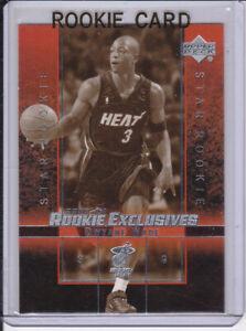Dwyane Wade Rookie Card 2003 Upper Deck Exclusives Black