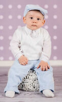 Baby Boy Christening Baptism Formal Suit Outfit Tank Top Wedding White Blue 0-18